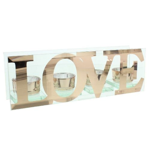 'Love' Word Candle Holder Valentine Wedding Anniversary Decoration Gift
